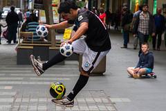 Soccer ball tricks (Raul Wong Roa) Tags: street people football soccer sydney australia performer