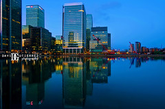 London Docklands, UK III (davidgutierrez.co.uk) Tags: city uk longexposure england urban reflection building london art architecture skyscraper photography lights canal twilight europe photographer londres bluehour canarywharf financial officespace londoncity davidgutierrez londonphotographer davidgutierrezphotography pentaxk5iis