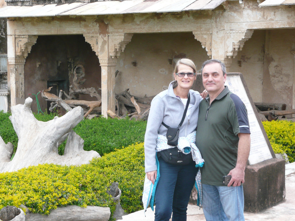 Mom and Gabe in Bundi