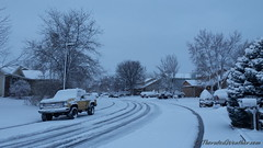 February 1, 2015 - Overnight snow starts the month with white. (ThorntonWeather.com)