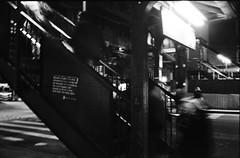Descent (Indofunk Satish) Tags: nyc train subway blackwhite trix queens canonet