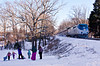 Amtrak.GarrettParkMD021715P029.4531 (jrm_rr) Tags: snow md maryland amtrak sledding sledriding capitollimited garrettpark p42dc p030 amtk174