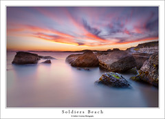 Soldiers 2013 12 3 (Mathew Courtney) Tags: sunset sky water clouds rocks long exposure le nsw centralcoast soldiersbeach