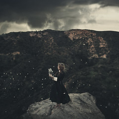 Perennial tides (Tyler Rayburn) Tags: california road park trip flowers mountain black girl la blog los dress angeles hollywood etsy conceptual griffith