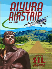 Aiyura Airstrip (ethnosax) Tags: mountains rural vintage poster airplane airport aviation retro missionary remote papuanewguinea missions runway sil maf p2 1937 schindler lightplane ukarumpa easternhighlandsprovince austerautocar aiyuraairstrip aiyuravalley