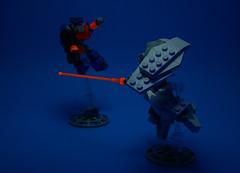 Black Light Test VS-MX-04 'Rangi' (Jay Biquadrate) Tags: lego diorama mecha mech moc microscale mfz mf0 mobileframezero