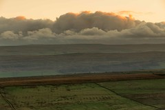Big Clouds (movinonagroove) Tags: sunset england orange brown wall clouds canon moody northumberland northeast hadrian hadrianswall hadrians moodysky nothumbria