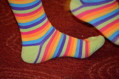 Striped Socks (thomas.hartmann496) Tags: blue red orange color green feet socks photo colorful purple striped