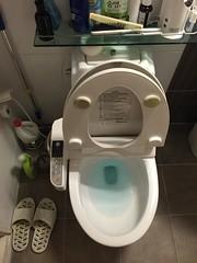 Pratende, verwarmde Koreaanse WC-bril