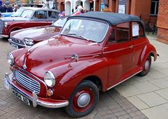 Morris 1000 Minor, Stratford-upon-Avon Festival of Motoring 2016. (Roly-sisaphus) Tags: uk greatbritain england cars unitedkingdom gb warwickshire automobiles stratforduponavon midlands festivalofmotoring nikond802016dsc0584