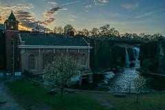 Clean energy (Ben De La Rosa) Tags: park new light sunset plant clouds river lens golden waterfall nikon power angle great wide falls national hour jersey paterson passaic hydroelectric d3300