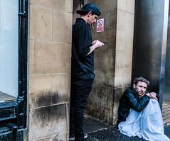 The street (Phg Voyager) Tags: street leica city uk england urban black color dark newcastle outside grey sad social guys dirty walls unemployed onthefloor m9 smocking nosmocking dlux4 phgvoyager
