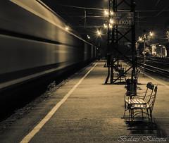 RkosVast-4 (balazskucsera) Tags: green station night train este est balzs vonat kucsera