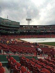 Tarp at Fenway (JenGallardo) Tags: red green boston ma cloudy massachusetts redsox fenway fenwaypark tarp