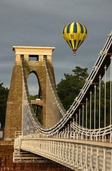 The #Clifton Suspension #Bridge #Balloon is a #suspension bridge spanning the Avon Gorge and the River Avon, linking Clifton in Bristol to Leigh Woods in North Somerset. Since opening in 1864, it has been a toll bridge. (HOW TO WIN FRIENDS AND INFLUENCE PEOPLE) Tags: bridge suspension balloon clifton