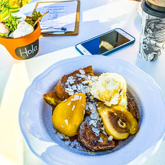 Breakfast with Jakey (danijeljw) Tags: morning food love breakfast french happy pears jake toast frenchtoast icecream adelaide southaustralia jakey portadelaide healhty