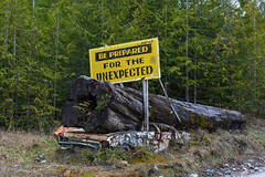 Be Prepared for the Unexpected (tutanh) Tags: road park canada vancouver scott island for columbia dirty be cape british unexpected provincial prepared unpaved