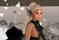 Something Missing... (*Raw!* by  ) Tags: arcade sl secondlife madness midnight fi monthly sci hoverbike gacha slphotography