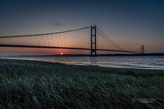 Humber Bridge #2 (tbnate) Tags: nikon d750 nikond750 tbnate humber humberbridge bartonuponhumber yorkshire lincolnshire landscape river sunset bridge goldenhour sky outdoor outside eastridingofyorkshire hull water dusk