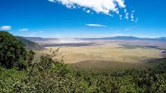 ngorongoro crater (sixthofdecember) Tags: africa travel sky cloud nature sunshine tanzania outside outdoors bush sunny safari ngorongoro caldera ngorongorocrater bushes shrubbery gopro hero4 goprohero4