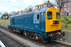 Class 20 - 20205 (Will Swain) Tags: uk travel england west english heritage station train during diesel britain south transport may rail railway trains class southern vehicles vehicle preserved 20 railways 7th gala isle swanage purbeck 2016 20205 20142