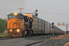 V-BLULAU1-19A Westbound at G.I. (Conductor Cronk) Tags: santa railroad way all railway locomotive fe ge bnsf conrail