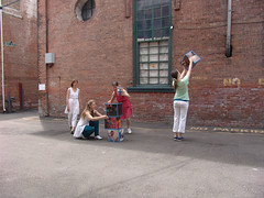 building in the street (RETTOCAMME) Tags: ny art design dance performance installation choreography sitespecific artfestival rettocamme emmacotter docklandcounty garnerartscenter