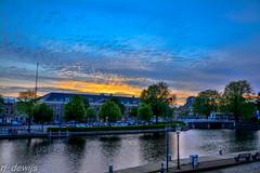 Spaarne Haarlem (Arjan de Wijs) Tags: city sunset sky holland haarlem netherlands spaarne rjdewijs