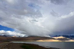 C o n t r a s t (_Amritash_) Tags: travel india lake mountains nature water clouds contrast lights landscapes shadows roadtrip stormclouds tsomoriri changthang incredibleindia incredibleladakh incrediblehimalayas roadtriptoladakh roadtripinhimalayas travelinindianhimalayas