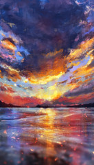 Coast (x107R) Tags: sky seascape art clouds digital painting landscape
