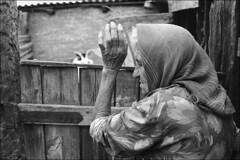 Near the shelter for house cattle (misha maslennikov) Tags: bw film nikon russia don f3 steep senshin maslennikov otherrussia