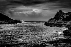Polperro - Cornwall III (Jan Altenschmidt) Tags: greatbritain beach bw seascape england cornwall langzeitbelichtung polperro lansallos grosbritannien gbr