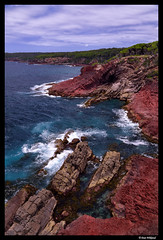 Red cliffs of Ben Boyd (Dan Wiklund) Tags: ocean red sea landscape nationalpark australia cliffs shore nsw newsouthwales d800 2015 benboyd