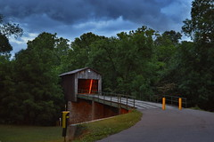 An Old Covered Bridge (OldSoul1984) Tags: bridge nikon dusk bridges historic covered hdr d3200