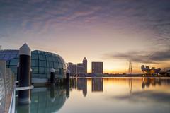 Sunrise (ystan) Tags: reflection marina sunrise bay ais20mmf28