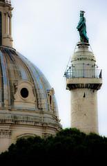 Santissimo Nome di Maria al Foro Traiano and Trajan's Column (Sharaz Jek) Tags: italy rome roma italia romanempire trajanscolumn travelphotography emperortrajan santissimonomedimariaalforotraiano