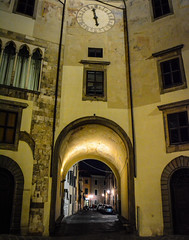 Streets of Pisa 9 (chriswalts) Tags: travel sunset italy streets tower night pisa leaning