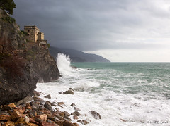 Monterosso-Lookout Tower (cheryl strahl) Tags: italy town seaside europe village pirates ngc hills cinqueterre monterosso lookouttower monterossoalmare fegina