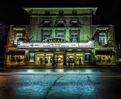 theater at night (katiezhao) Tags: longexposure nightphotography blue light color night lights nikon exposure theater mood nightscene savannah nightlife dslr lightphotography d7000 nikond7000