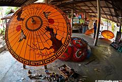 Umbrella painting in progress
