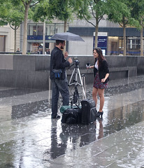 The happy couple (stephenwebster2) Tags: st pancras rain wet radio interview