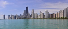 Afloat (Ctuna8162) Tags: lake chicago water skyline buildings illinois lakemichigan volleyball northavenuebeach