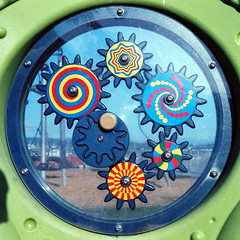 Colorful Toy (bac1967) Tags: tlr film rolleiflex washington colorful wa konica cogs gears pnw portorchard 127film expiredfilm colornegativefilm rolleiflextlr portorchardwa babyrolleiflex c41film konica160film