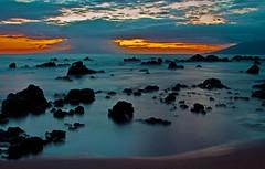 tide pool sunset (bluewavechris) Tags: ocean sunset sea sky seascape color beach water canon hawaii exposure scenic maui kihei wailea