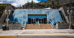 2016 - Road Trip - Revelstoke Dam BC - 1 of 4 (Ted's photos - For Me & You) Tags: people reflection sign clouds nikon dam steps cropped railing vignetting curb retainingwall visitorcentre 2016 bchydro revelstokedam tedmcgrath cans2s tedsphotos nikonfx peopleandpaths nikond750 revelstokedamvisitorcentre