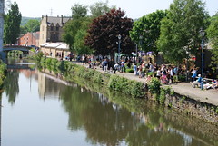 Relaxing canal side (Halliwell_Michael ## Offline mostlyl ##) Tags: trees reflection water reflections canal perspective bridges canals towns towpath westyorkshire brighouse 2016 nikond40x calderhebblecanal reflectionslovers brighouse1940sweekend brighouse1940swe