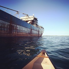 Laker (Michael Mitchener) Tags: toronto square canoe squareformat rise portlands shippingchannel iphoneography instagramapp uploaded:by=instagram