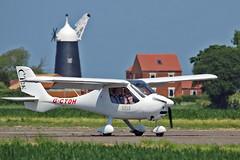 "G-CTDH Flight Design CT 2K A D Thelwall Sturgate Fly In 05-06-16 (PlanecrazyUK) Tags: sturgate egcs ""fly in"" 050616 ""lincoln aero club ltd"" gctdh flightdesignct2k adthelwall fly in"