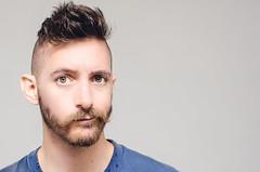 (Damien Cox) Tags: uk blue portrait selfportrait man male me face self ego myself beard eyes nikon masculine tshirt ears moi messy mustache autorretrato scruff stubble i damiencox damiencoxcouk