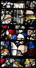 Adoration of the Shepherds (English glass, 16th Century) (Simon_K) Tags: cambridge college university chapel stainedglass tudor kings cambridgeshire eastanglia 16thcentury cambs